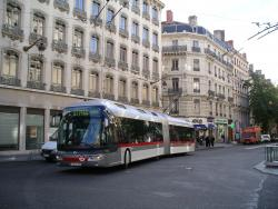Modern trolleybus in Lyon